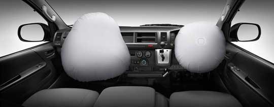 Fitur keselamatan dan keamanan Toyota Hiace