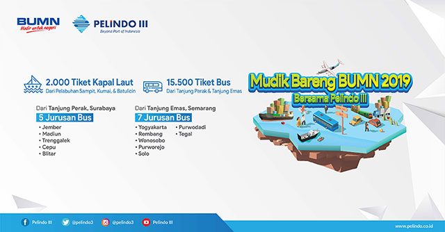 Mudik gratis BUMN Bareng Pelindo III