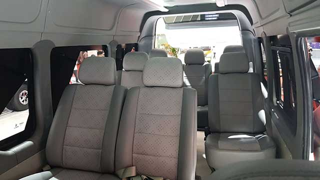 interior isuzu traga bus 10 seater
